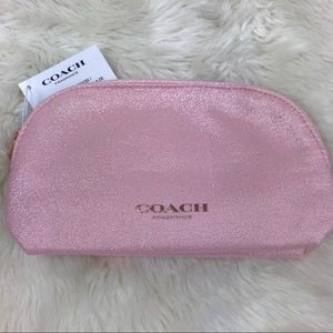 Coach Pouch Make Up Bag Purse Pink Shimmer Case